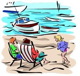 Liegestuhl am Meer