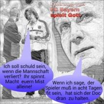 FC Bayern spielt Gott