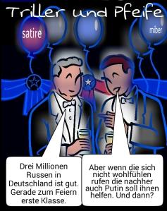 3 Millionen Russen in Deutschland.