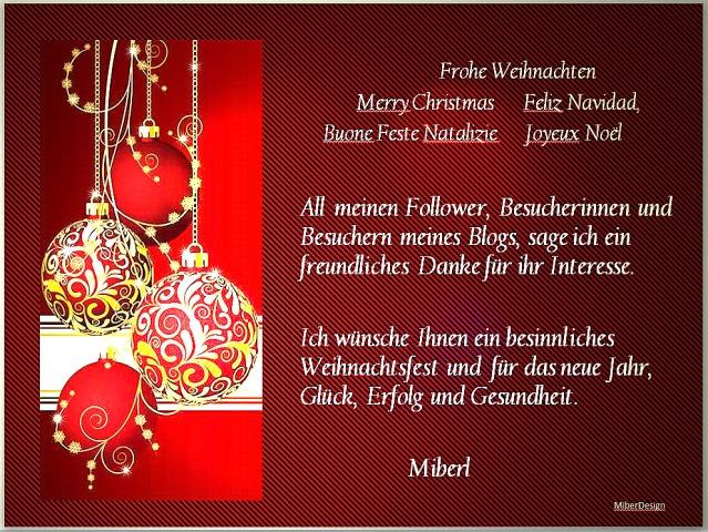 Weihnachtsgruss Blog
