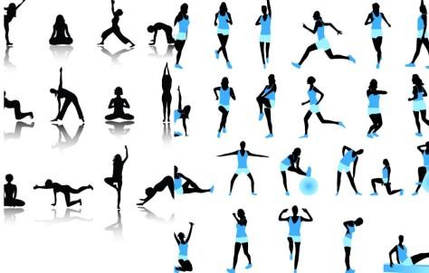 Diverse Gym-Übungen