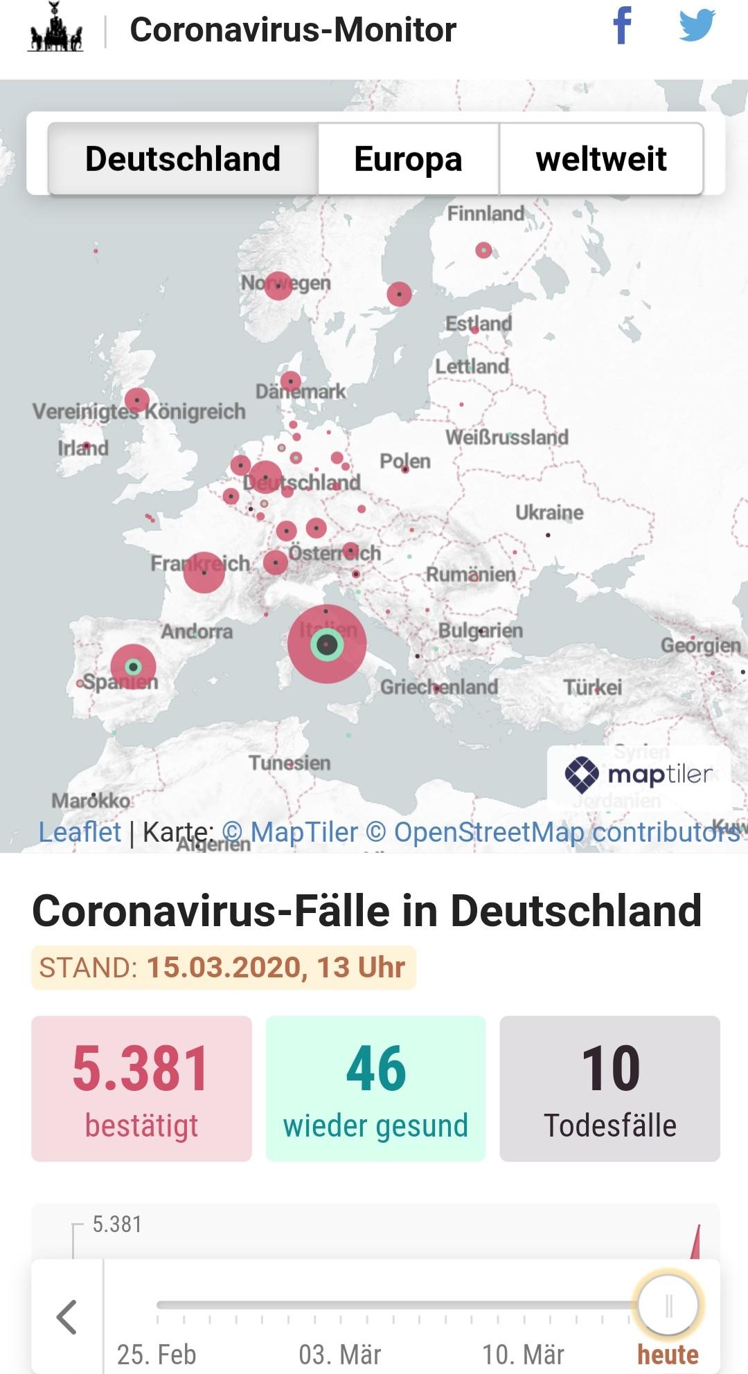 Coronavirus Deutschland Interaktiv